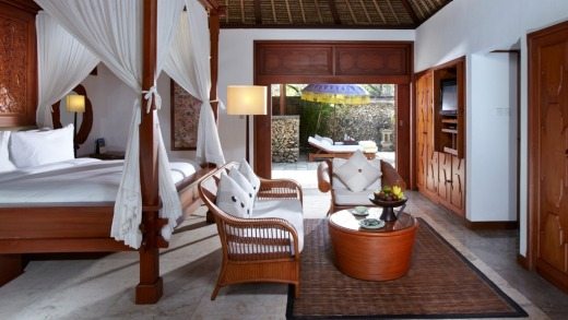 Premier bedroom at The Oberoi.