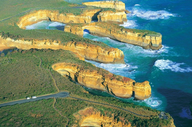 Most famous: Port Campbell National Park, The Great Ocean Road.