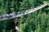 Capilano Suspension Bridge just outside Vancouver.