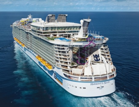 The Ultimate Abyss, the tallest slide at sea: Harmony of the Seas.