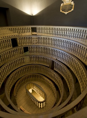 Medieval anatomical theater where lectures of medicine were held at Padua University.