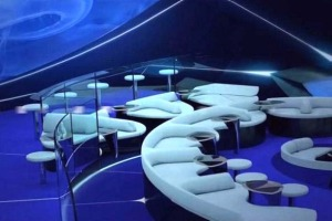 Artist's impression of the Ponant underwater lounge.