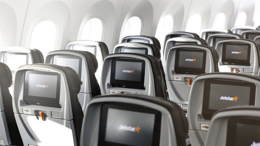 Unlike most of the airline's other planes, Jetstar's Dreamliners have seat-back TV screens.
