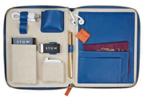 Stow's soft leather travel organiser.