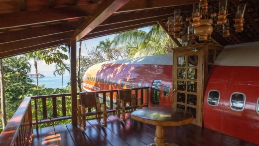 The 727 Fuselage Home at Hotel Costa Verde, Costa Rica.
