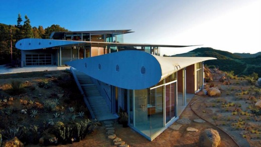 The Wing House in Malibu is built from a Boeing 747.