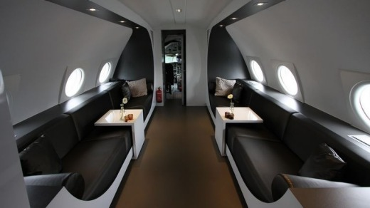 The airplane suite at Teuge Airport.