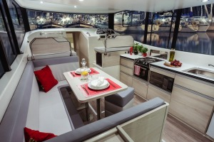 The interior of Le Boat's new high-spec cruiser.