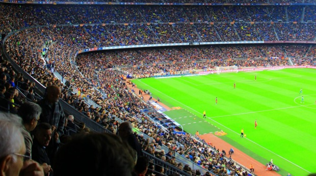 Match between Barca and Eibar at Camp Nou, Barcelona.