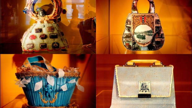 Exhibits on display at the Museum of Bags and Purses.