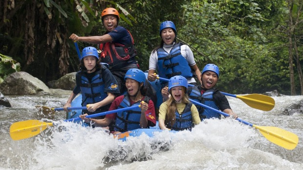 White water fun on the Ayung.