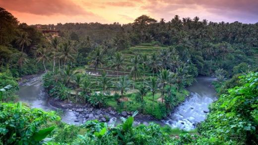 The Ayung River is Bali's longest and, arguably, most picturesque river.
