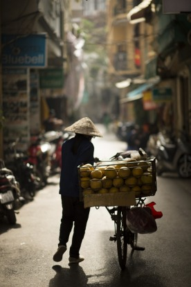 During a cycling through Vietnam we spent time in Ha Noi where narrow streets bustled with life.