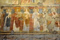 Wall paintings in the early Christian church of Santa Maria Antiqua in Rome.