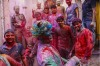 Indians take part in the Holi Festival celebrations in Vrindivan, 120km from New Delhi.