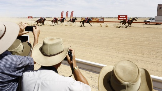 Race two at the Birdsville Cup.