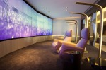Relax and Recline area: The relaxation room at Etihad first class lounge, Abu Dhabi International Airport.