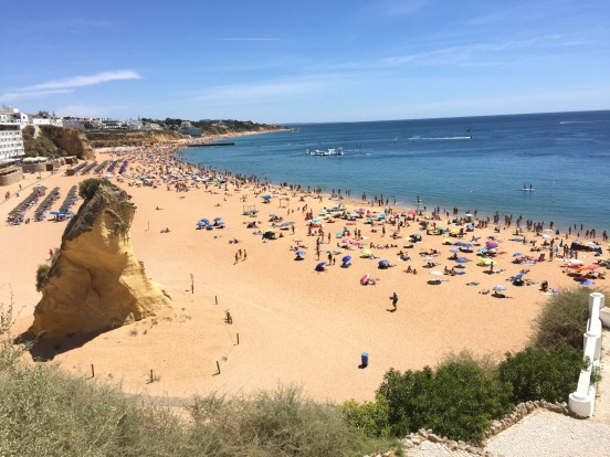 Soak up the sun in one of the many coastal cities in the Algarve region of Portugal. Pictured: Albufeira.