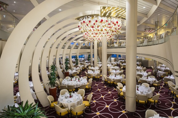The dining room on Koningsdam: The first ship from Holland America Line in years, launched in April 2016, sets a new ...