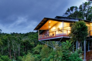 Perched high above the rainforest, you will forget there are others staying nearby.
