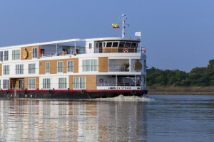 The 28-cabin ship has a pool, gym sauna and spa.