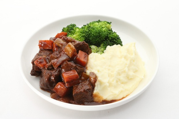 Braised venison with chestnuts, celeriac puree and broccoli.