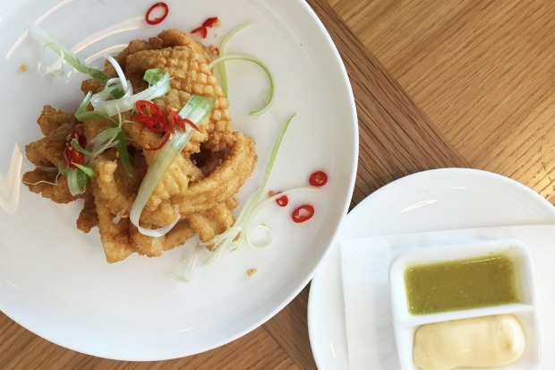 Qantas most wanted: Salt and pepper squid with green chilli dipping sauce and aioli.