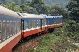 Riding the Reunification Express from Hanoi to Ho Chi Minh.