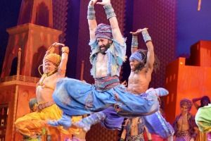 Performers in the Disney production of <i>Aladdin</i>.