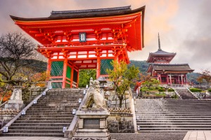 Morning light at Kiyomizu Temple, Kyoto.