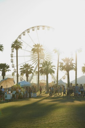 Coachella during the early hours.