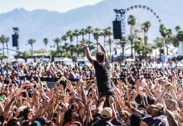 Coachella's crowds at the main stage.