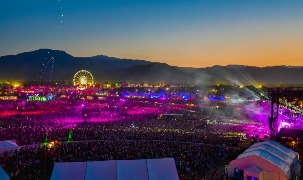 Coachella from the top.