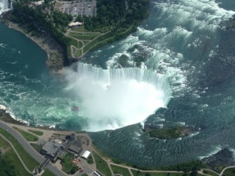 This photo looking down on Niagara Falls, was taken in June 2014, as my wife and I took a helicopter flight over the ...