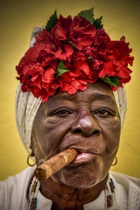 Cuban lady- photo taken on the streets of La Habana Vieja in Cuba.She was such a interesting character, masculline and ...