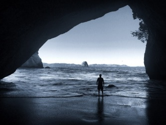 This was a photo taken on my holiday to New Zealand's north island. Known as Cathedral Cove, the rock formation I'm ...