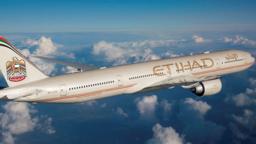 Etihad's 777s will cease flying to Australia in October.
