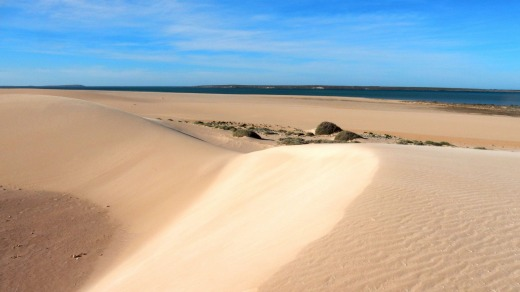 The sand dunes of Dirk Hartog Island