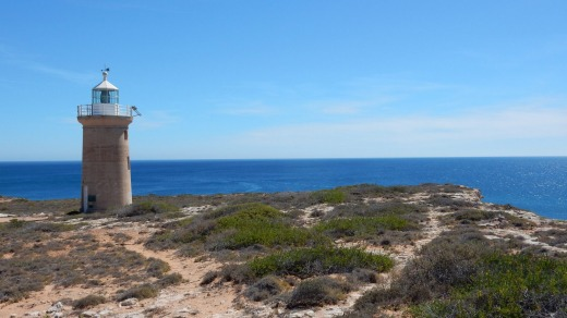 Dirk Hartog Island's lighthouse.