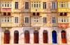 Building facades in Malta.