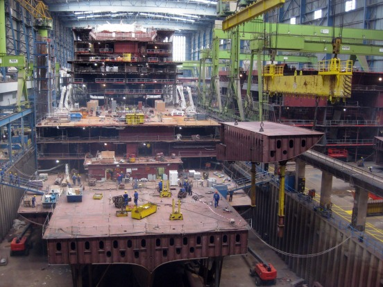 Meyer Werft Dockhalle II, Germany: As cruise ships get bigger, they need places like the Meyer Werft Dockhalle II in ...