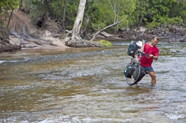 River crossing on the Old Telegraph Track on the ride to Cape York.