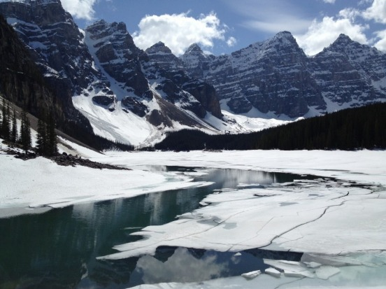 This photo of Lake Moraine in the Banff National Park, Canada was taken in June 2014. It was a picture perfect day with ...