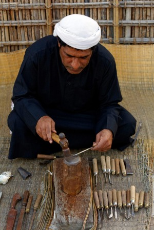Step back in time: A knife manufacturer in Dubai.