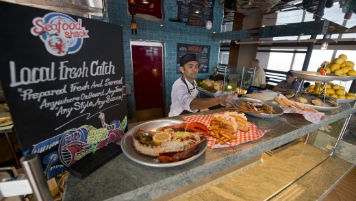 There's a restaurant on the Carnival Vista for all tastes.