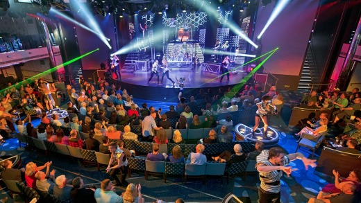 Entertainment is round the clock on the Carnival Vista.