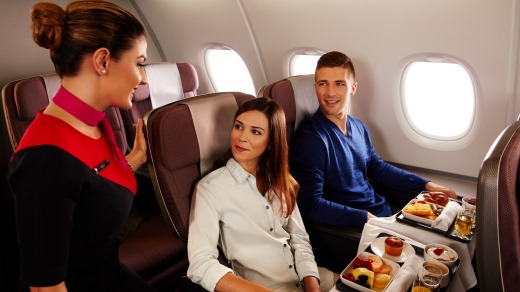 There's extra room in Qantas premium economy.