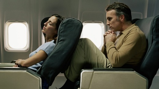 It's considered poor form to recline your seat on a short flight.