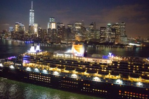 The Queen Mary 2 in New York.