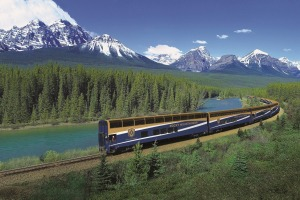 The Rocky Mountaineer offers stunning scenery and sumptuous dining for passengers.